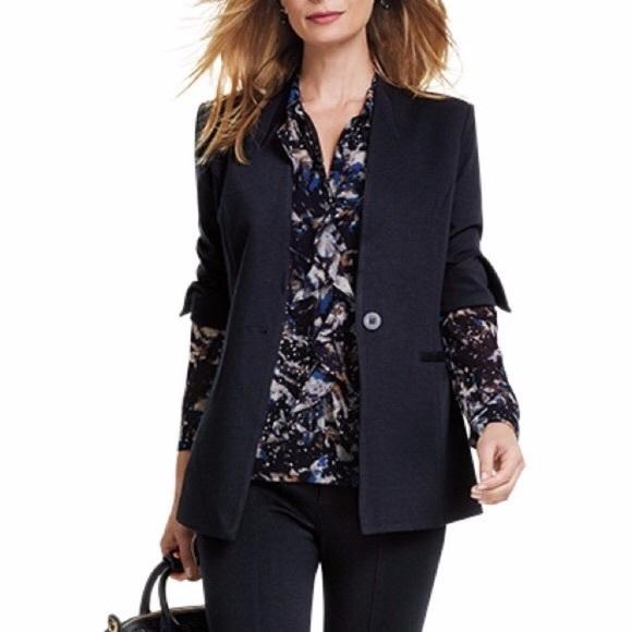 CAbi Jackets & Blazers - CAbi 3026 black pointe Knit Turner Blazer Jacket 6